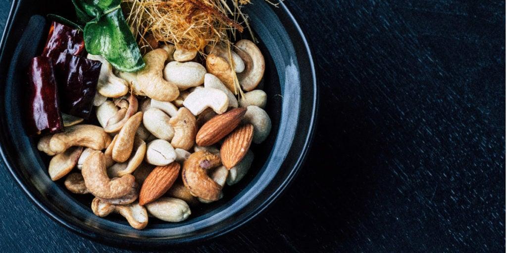 los frutos secos son una gran fuente de magnesio